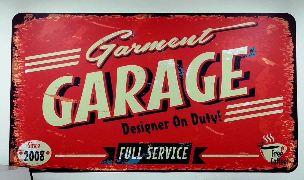 Garment Garage Sign