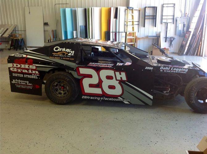 race car graphic wrap