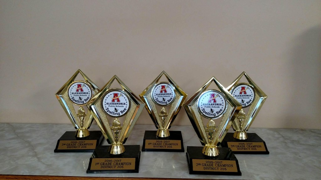 Spelling Bee Trophies
