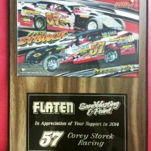 Racing Plaque